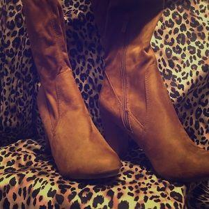 Brown Thigh High Boots